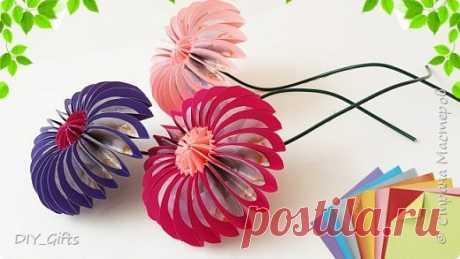 Делаем очень простые в изготовлении цветочки из бумаги в стиле оригами | Страна Мастеров