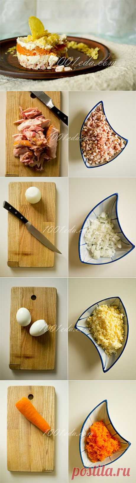 Рецепт куриного салата с чипсами - Салат с курицей . 1001 ЕДА вкусные рецепты с фото!