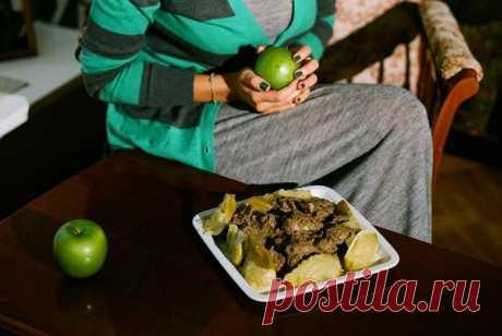 Печень с яблоками рецепт – немецкая кухня: закуски. «Еда»