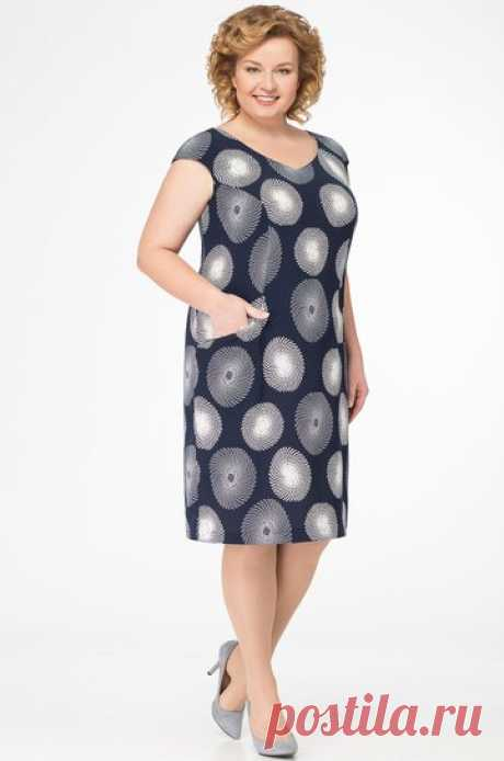 Платье БелЭкспози, темно-синий (модель 1012) — Белорусский трикотаж в интернет-магазине «Швейная традиция»