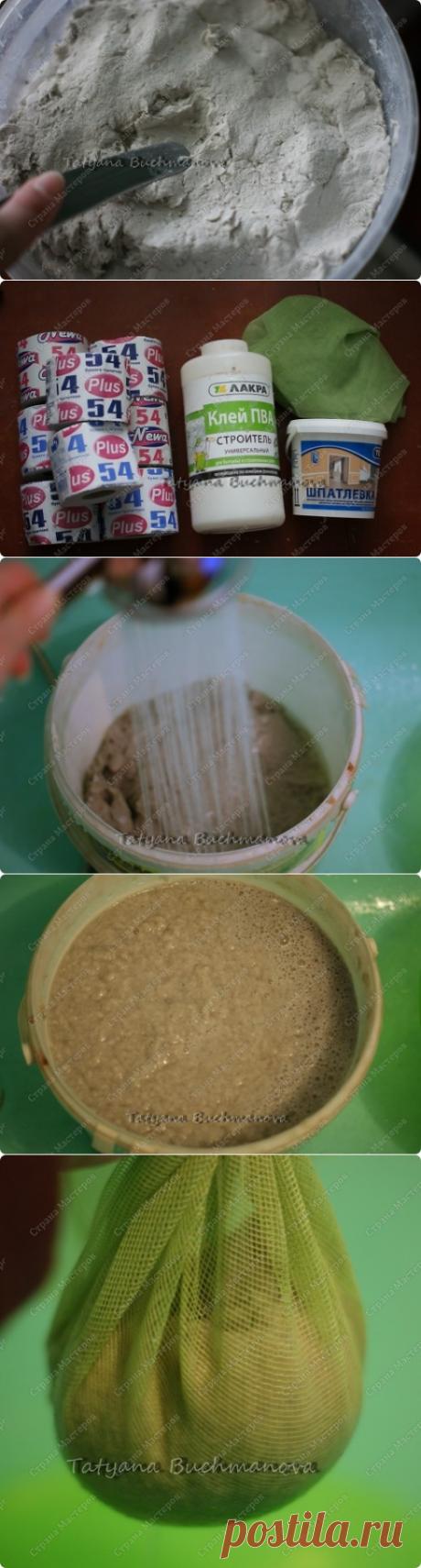Пластичная масса папье-маше. Два рецепта приготовления