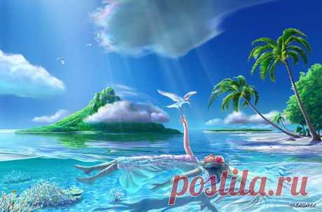 «Ютака Кагайя. Штиль в тропиках» — карточка пользователя Мария Ф. в Яндекс.Коллекциях