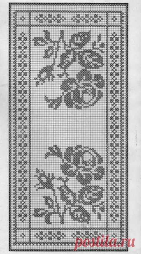 Подборка схем для филейного вязания