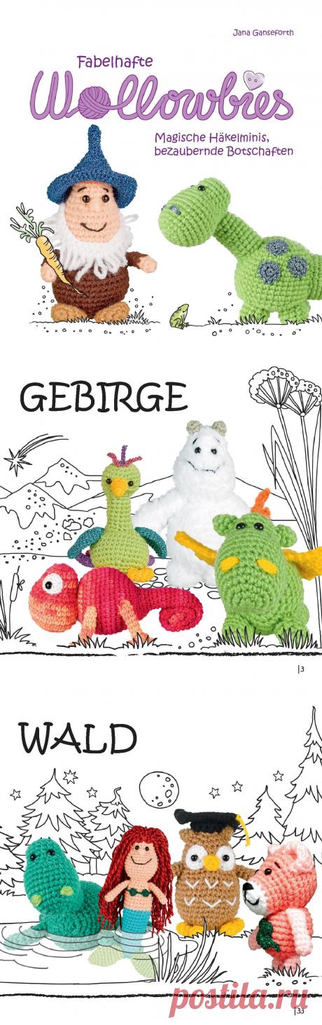 Fabelhafte Wollowbies (вязание крючком игрушек: животных и сказочных персонажей)