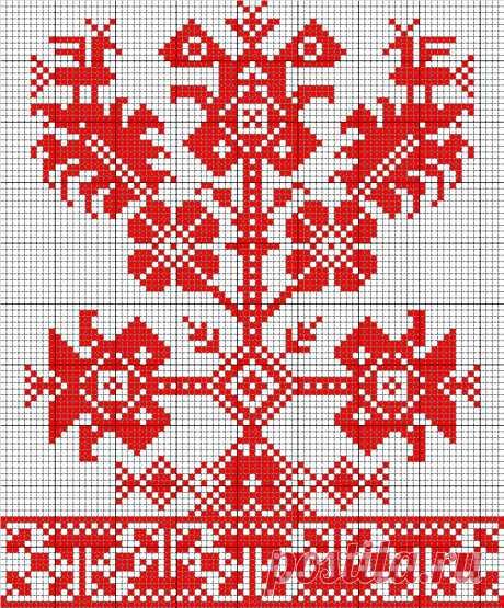 Интересные схемы для вышивки или ткачества — Сделай сам, идеи для творчества - DIY Ideas