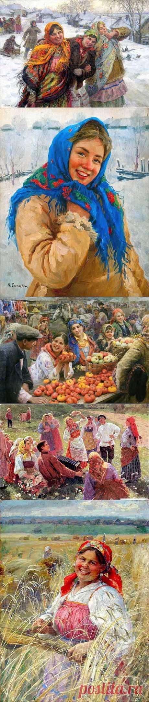 Русский живописец Федот Сычков (1870 - 1958).