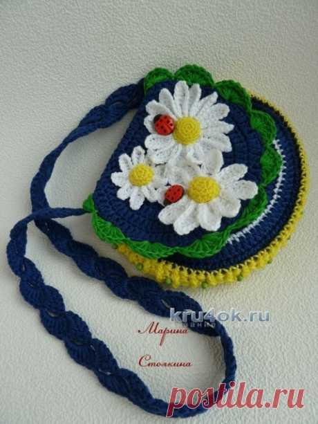 Шапочка и сумочка для девочки крючком – работа Марины Стоякиной