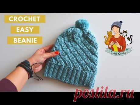 Crochet Easy Cable Hat/Beanie