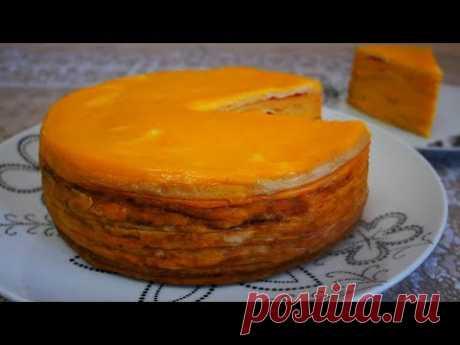ЦАРСКИЙ блинный торт НЕВЕРОЯТНЫЙ вкус и аромат с сырно-тыквенной начинкой
