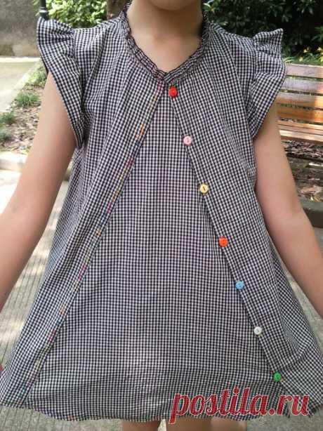 Необычная детская туника, выкройка Модная одежда и дизайн интерьера своими руками