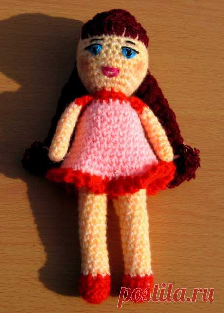 веселая малышка, связала по картинке из интернета Татьяна Цветкова