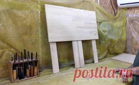 Складной стол-парта из дерева своими руками В данном обзоре автор делится идеей, как своими руками сделать деревянный складной стол-парту для маленького школьника (ученика начальных классов). Такой