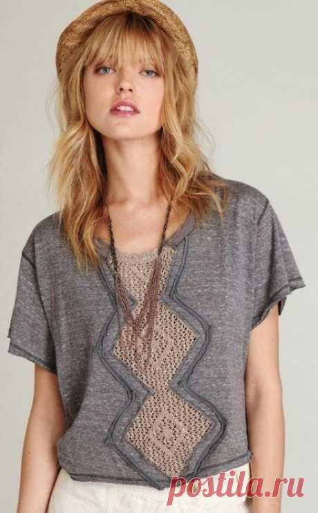 20 идей переделки старых вещей в модные- соединяем вязание и ткань.   Провинциалка в теме   Яндекс Дзен