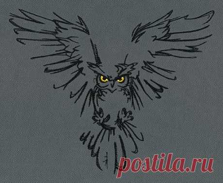 Night Owl | Urban Threads: Unique and Awesome Embroidery Designs