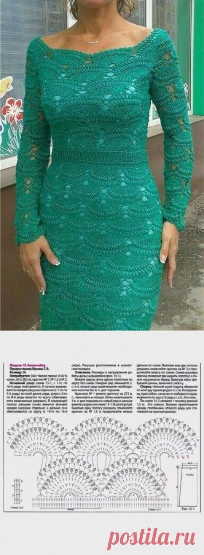 платье из категории Интересные идеи – Вязаные идеи, идеи для вязания