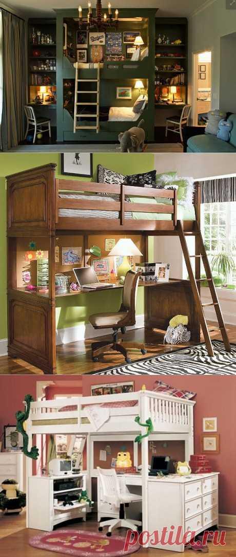 Кровать-чердак с рабочей зоной | УЮТНЫЙ ДОМ | советы