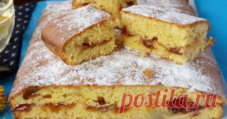 Вкусный и быстрый пирог с вареньем – специально для тех, у кого нет времени на готовку