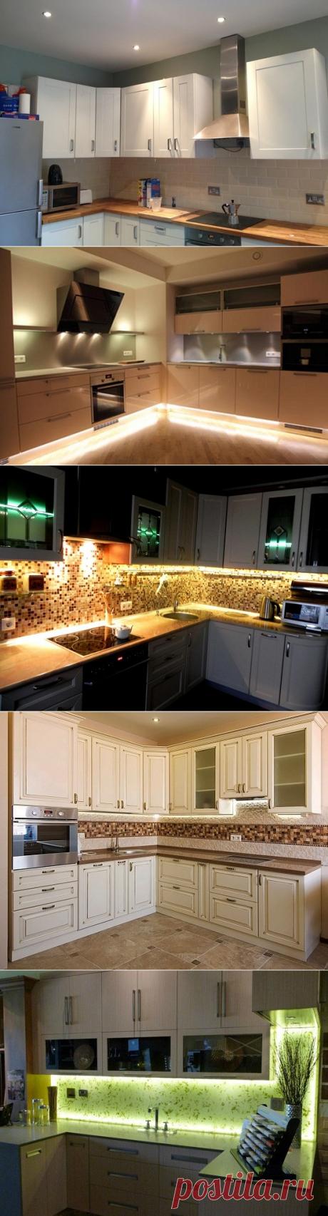 Подсветка кухонного гарнитура | Роскошь и уют