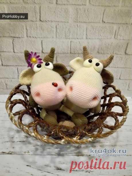 Коровка Мила / Вязание игрушек / ProHobby.su   Вязание игрушек спицами и крючком для начинающих, мастер классы, схемы вязания