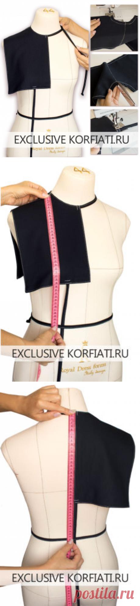 Как сшить плечевую накладку - мастер-класс Анастасии Корфиати