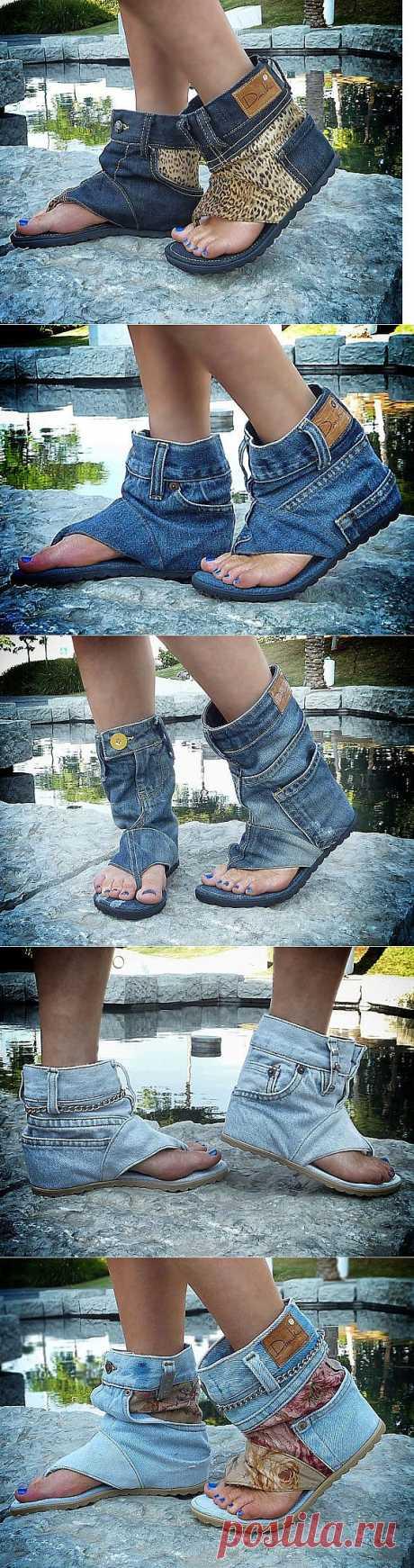 Джинсовые сандали / Обувь / Модный сайт о стильной переделке одежды и интерьера
