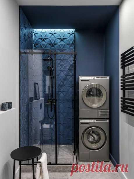 В закладки: 7 дизайнерских ванных комнат с акцентной плиткой