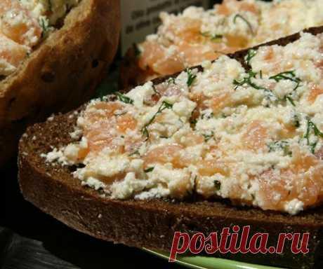 Слабосоленая семга с творогом и укропом рецепт – шведская кухня: закуски. «Еда»