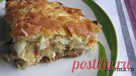 Очень простой пирог с капустой | Вкусно и красиво!
