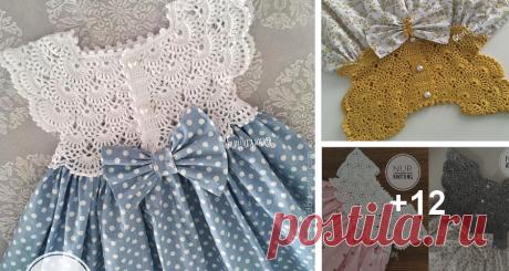 Vestido de Niña con Canesu a Crochet ⋆ Manualidades Y DIYManualidades Y DIY