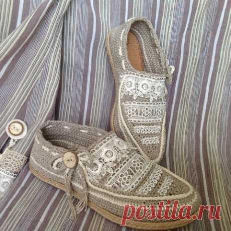 Вязаная обувь — супер мокасины