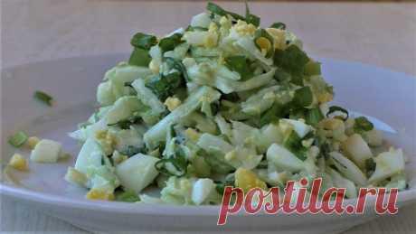 Самый простой салат из капусты с яйцом - Кулинарный Блог - медиаплатформа МирТесен
