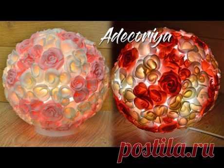 Светильник-ночник из обрезков изолона! Цветы из отходов изолона! Adecoriya | DIY Isolon lamp