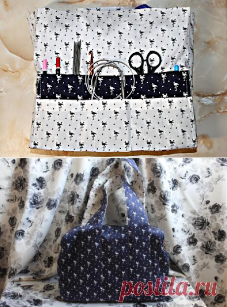 Вяжем вместе: Мастер-класс по пошиву сумки для рукоделия