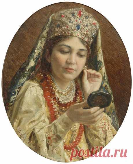 Русская краса в картинах Константина Маковского: 44 очаровательных портрета
