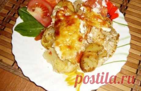Курица по-французски с картофелем - пошаговый рецепт с фото