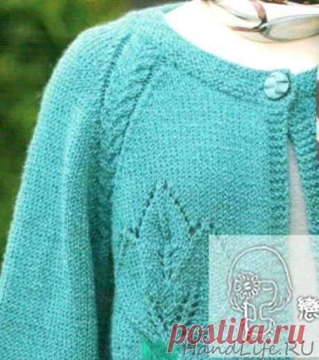 Turquoise cardigan spokes \/ Knitting