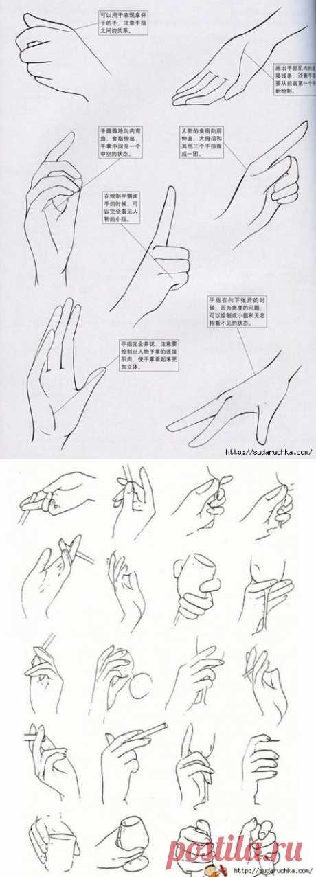 """""""Рисуем - руки"""". Уроки рисования.."""