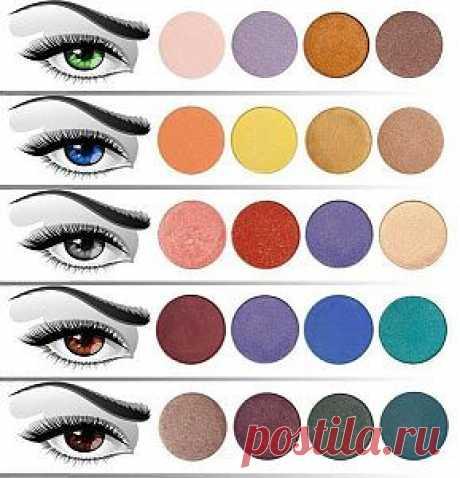 Какие тени подходят под Ваш цвет глаз | Секрет красотки