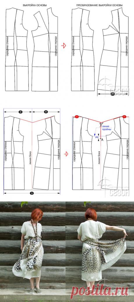 [Шитье] Двухслойное платье из двух прямоугольников. Мастер-класс