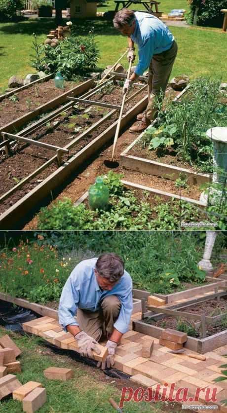 Чтобы огород был чистым и аккуратным. Делаем садовый участок красивым и чистым.