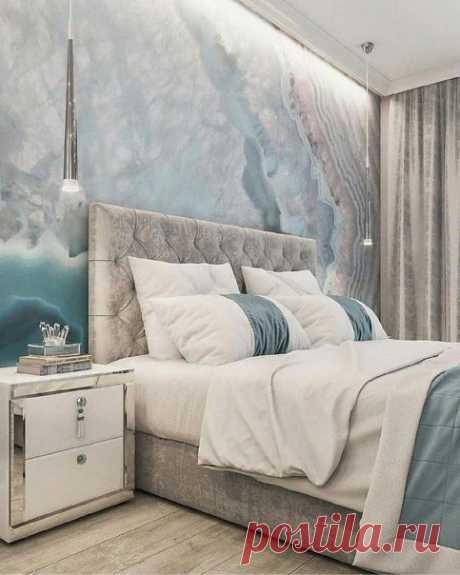 Шикарный проект спальни! Мягкие цвета, которые дают релакс