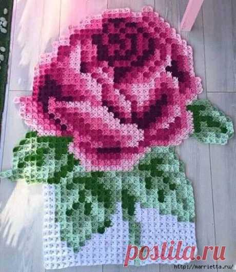 Плед Роза