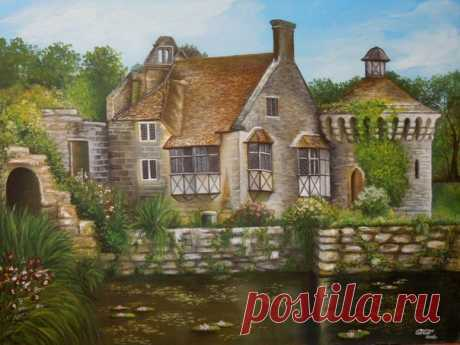 художник - Olasun Свинухова Ольга замок Скотни, Англия