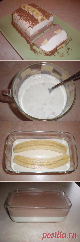 Как приготовить творожный десерт с бананом - рецепт, ингредиенты и фотографии