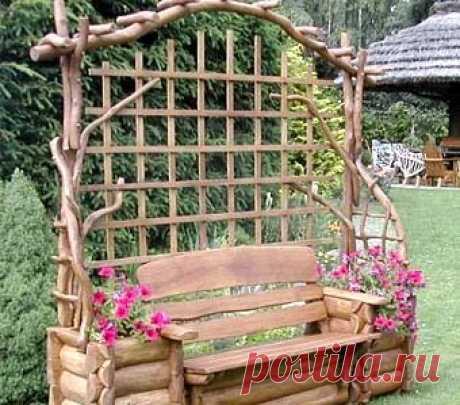 Скамейки и скамеечки для сада — Огород без хлопот