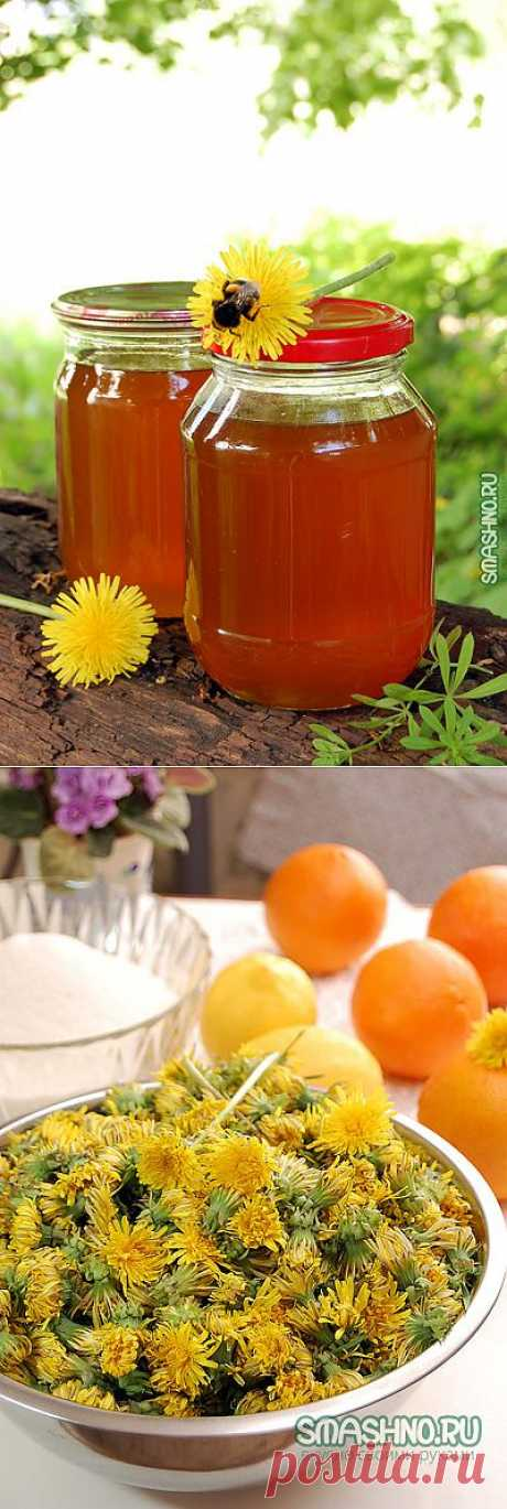 The recipe of jam from dandelions with oranges and lemon juice.\u000d\u000a.