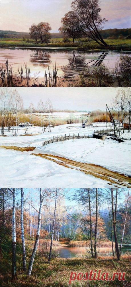 El pintor el autodidacta Oleg Sokolovsky. Los paisajes (la publicación de Víctor Besedina)