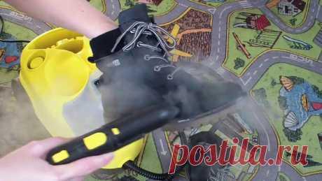 А что, так можно было? Чистим замшевую обувь паром Пароочиститель Керхер - удивительная техника, которая продолжает покорять весь наш бесконечно захватывающий быт))Посмотрите, как легко, без усилий и использо...