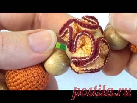 Как связать гвоздичку для слингобус (МК №4) // Crochet Carnation Flower for Necklace