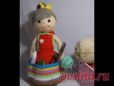 "МК""Кукла игольница""крючком"